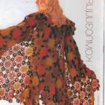 çiçek motifli bayan hırka modeli