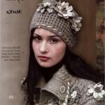 çiçek süslemeli şapka modelleri