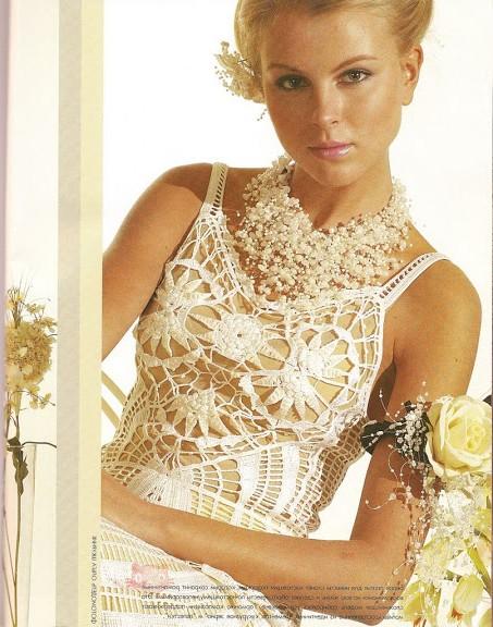 örgü gelinlik modelli elbise