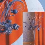 örgü vazoluk çiçek yapımı