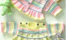 Yeni Modellerde Örgü Çocuk Kıyafetleri