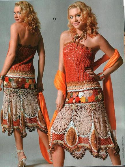 2013 en güzel örgü bayan elbise modeli