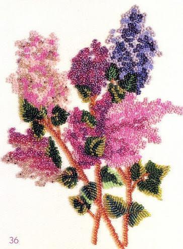 boncuklarla çiçek işleme modelleri