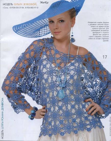 düşük omuzlu file modelli örgü bayan bluz modeli