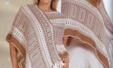 Yeni Tasarımlarda Örgü Bayan Şal Modelleri