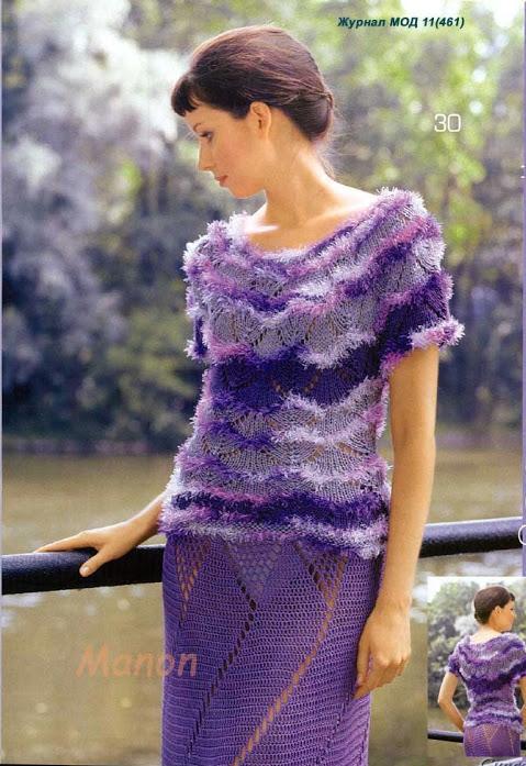 ebruli mor renkli delikli elbise modelleri