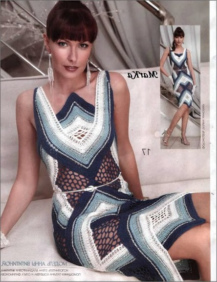 en yeni örgü elbise modelleri