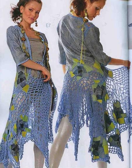 farklı örgü elbise modelleri