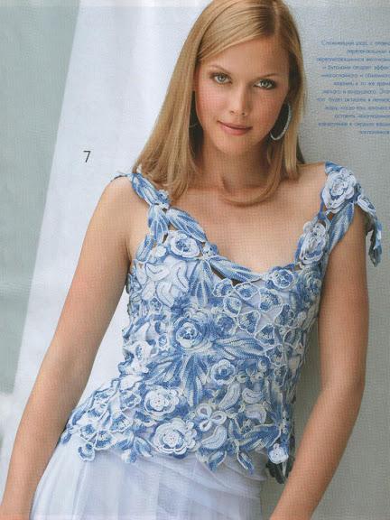 göğüs dekolteli çiçek motifli bayan örgü bluz