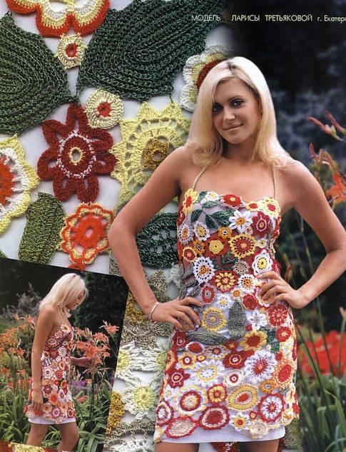 ip askılı rengarenk çiçek desenli elbise modeli