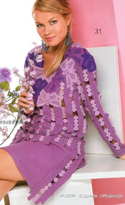 kelebek desenli halka süslemeli elbise modeli