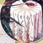 parçalı baklava dilimli dantel fiskos masası modeli