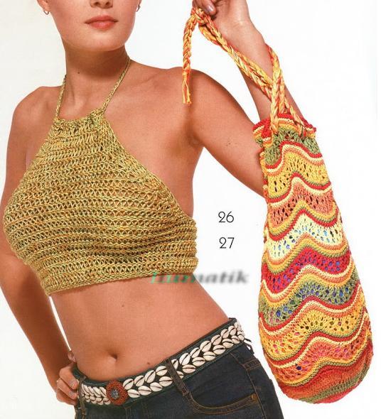 renkli çizgili torba şekilli çanta modeli