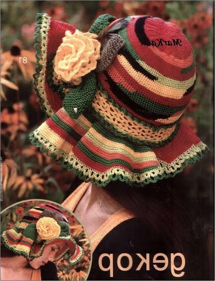 renkli şapka modelleri