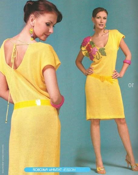 sarı renkli sırt dekolteli elbise