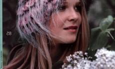 Süslü Örgü Bayan Şapka Modelleri