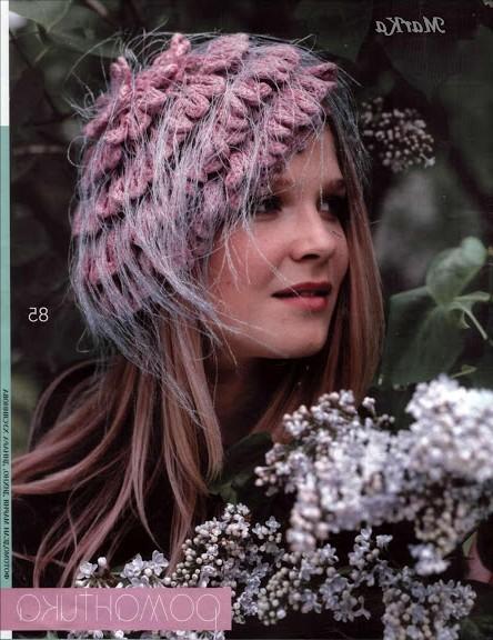 tüylü ip şapka modelleri