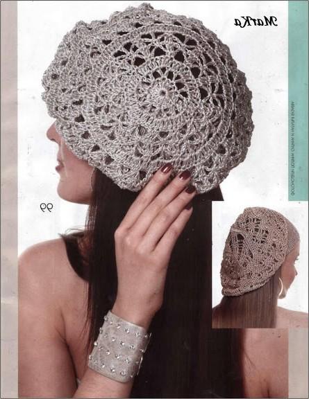 tığ işi şapka örnekleri