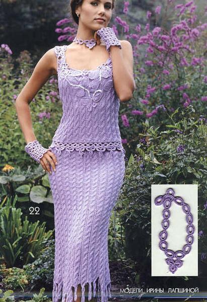 yakası işlemeli etekleri püsküllü elbise modeli