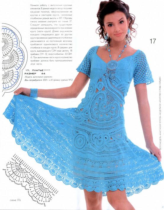 yarım kollu turkuaz mavi bayan örgü elbise modeli