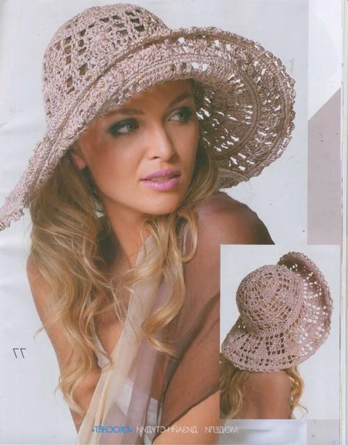 yazlık örgü şapka modeli