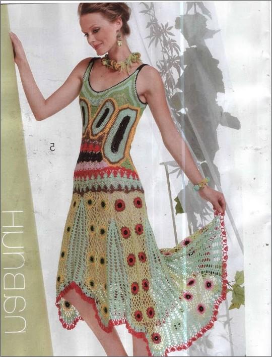 yazlık örgü elbise modelleri