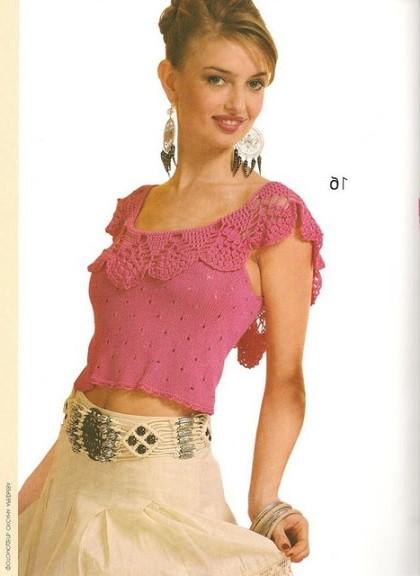 yuvarlak yaka bluz modeli