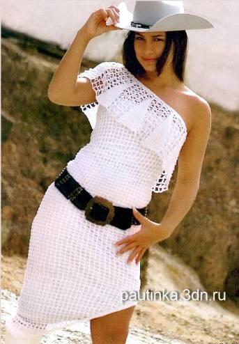 çapraz tek omuz askılı dantel yakalı elbise modeli