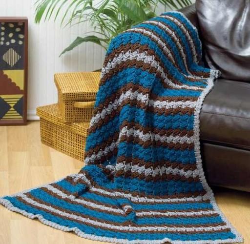 çeşitli örgü battaniye modelleri