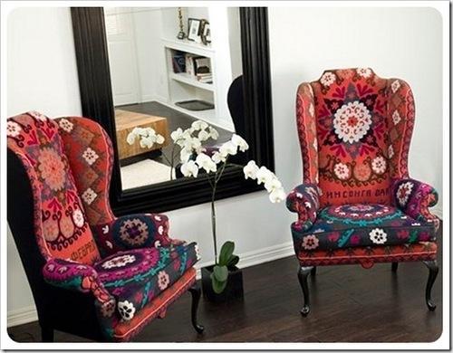 çiçek desenli örgü koltuk minderi modelleri