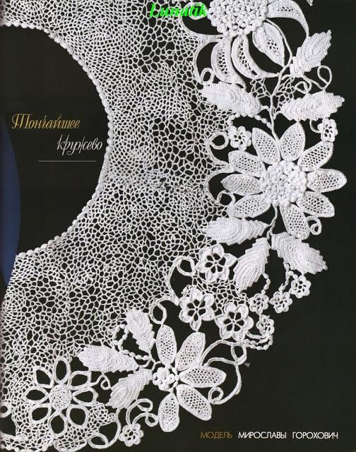 çiçek desenli dantel yakalık modelleri