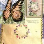 çiçekli ve kelebek modelli nakış örnekleri