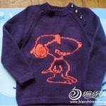 çizgi film desenli örgü kazak modelleri