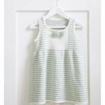 çizgili bebek elbisesi