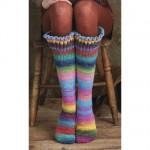 çizgili renkli örgü çorap