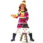 çocuk elbisesi örgü çizgili