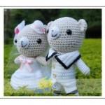 örü minik oyuncak ayı çifti