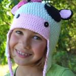 örgü kulaklıklı çocuk şapkası