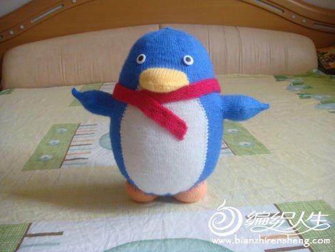 örgü oyuncak penguen modeli