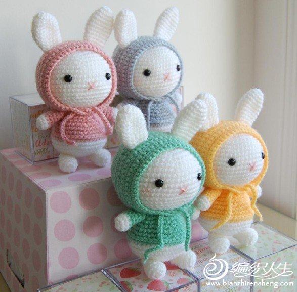 örgü oyuncak renkli tavşan modelleri