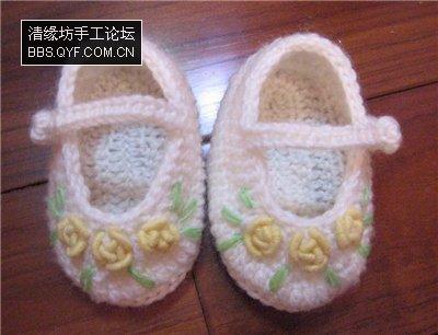 üzeri çiçek işlemeli ayakkabı şekilli bebek patikleri