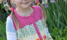 Yazlık Kız Çocuk Örgü Hırka Modelleri