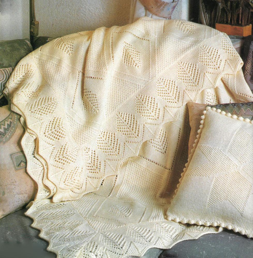 şiş ile örülen desenli battaniye modelleri