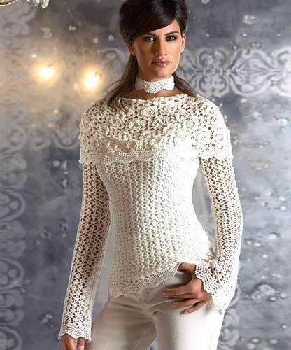 beyaz renkli düşük dar yakalı dantel bluz modeli