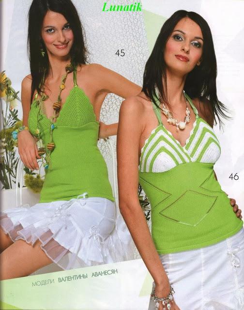 boyundan askılı yeşil renkli bluz modeli