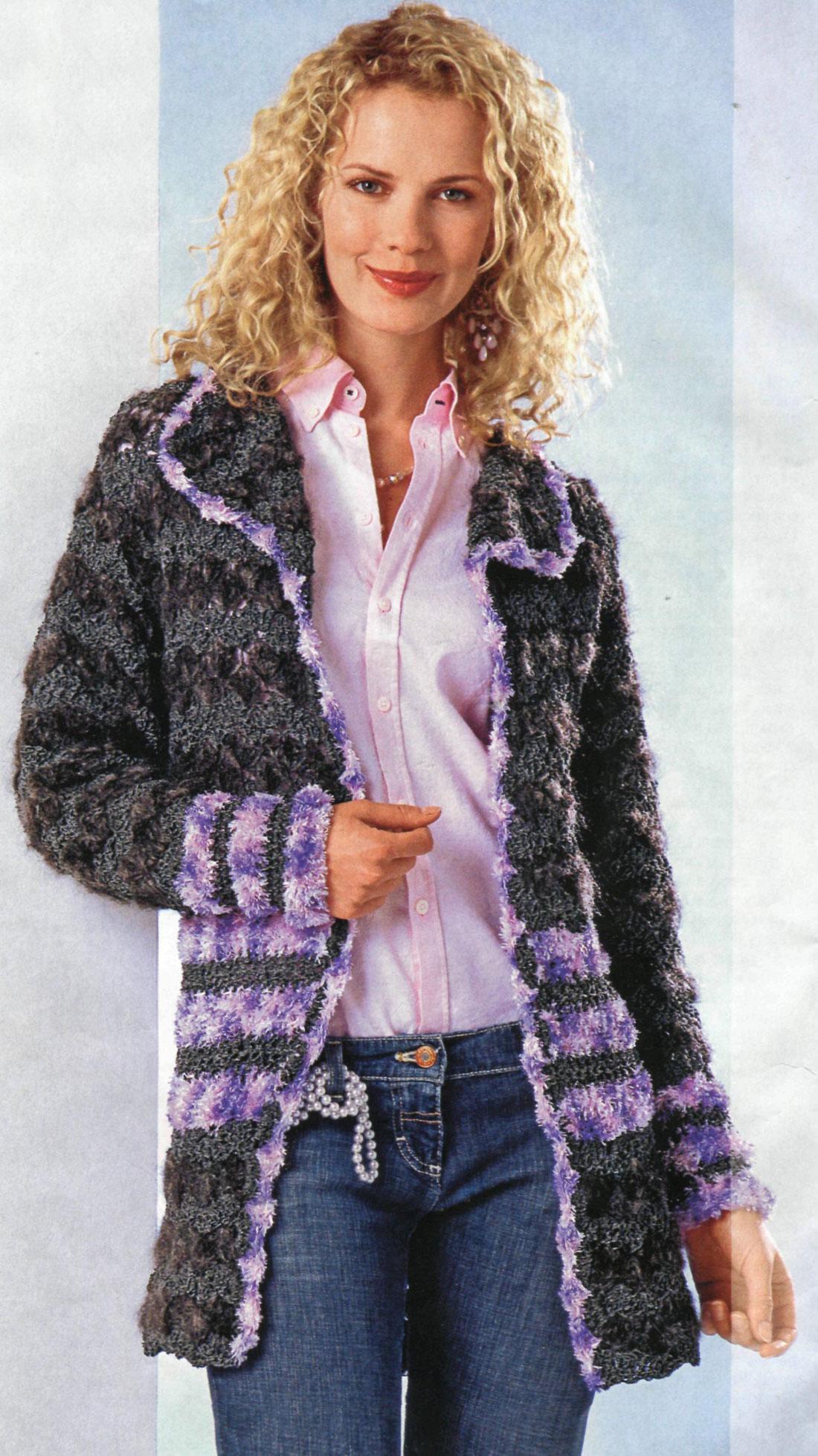 ceket yakalı çizgili desenli tunik hırka modeli