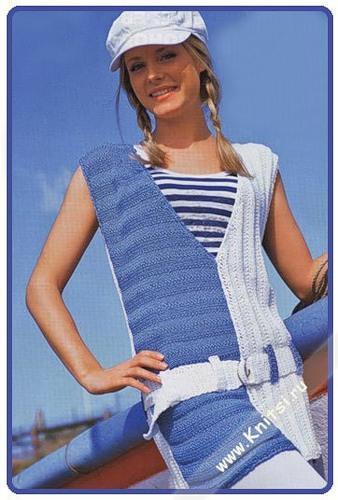 düşük v yakalı iki renkli tunik bluz modeli