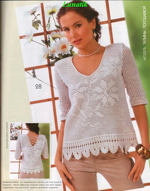 dantel çiçek desenli bayan bluz modeli