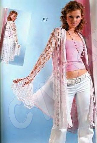 dantel desenli uzun örgü hırka modeli
