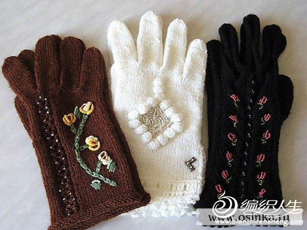 değişik renk ve desenlerde örgü eldiven modeli